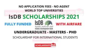 Islamic Development Bank Scholarship 2021
