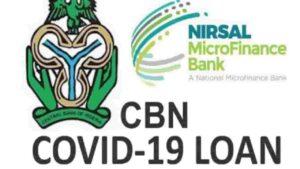 CBN Covid-19 Loan Disbursement